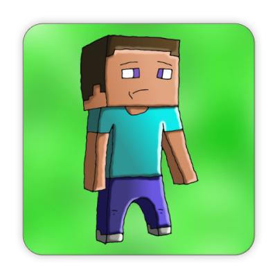 Костер (подставка под кружку) Minecraft Steve