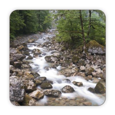 Костер (подставка под кружку) Горная речка