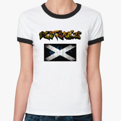 Женская футболка Ringer-T Шотландия, Scotland