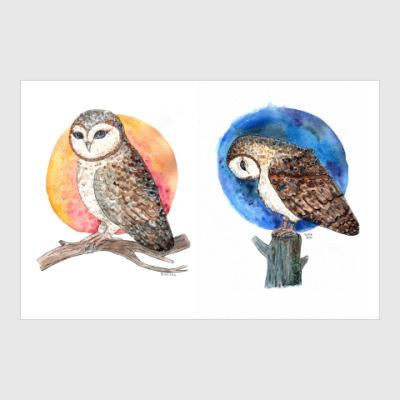 Постер Две совы