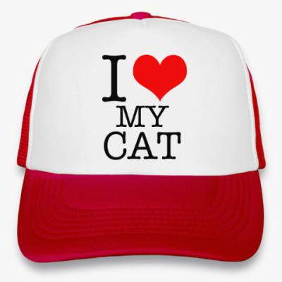 Кепка-тракер I Love My Cat