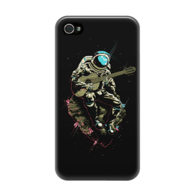 Чехол для iPhone 4/4s Космонавт с гитарой