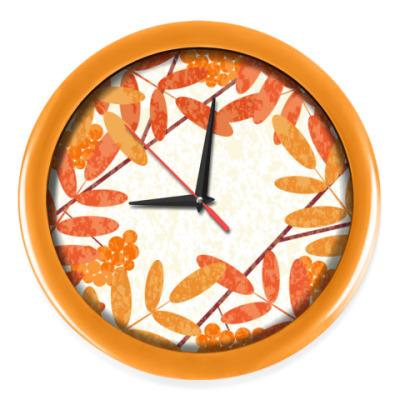 Настенные часы Осенняя рябина