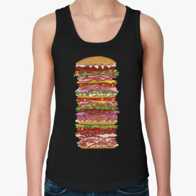Женская майка Гамбургер