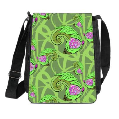 Сумка-планшет растительный цветочный фон декоративный