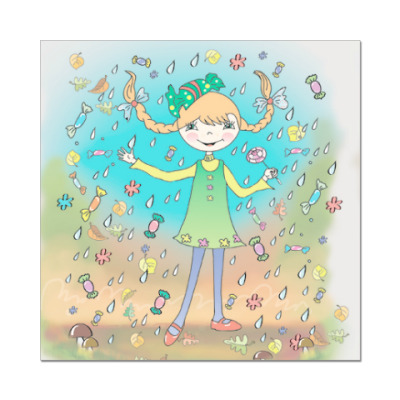 Наклейка (стикер) Конфетная девочка