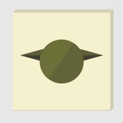 Холст Магистр Йода (Yoda) минимализм