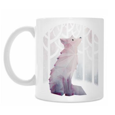 Кружка Зимний Лис в снегу Winter fox