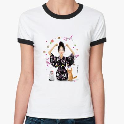 Женская футболка Ringer-T Yaponomaniya