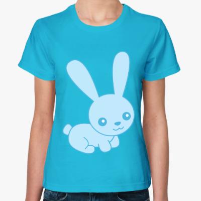Женская футболка Зайка