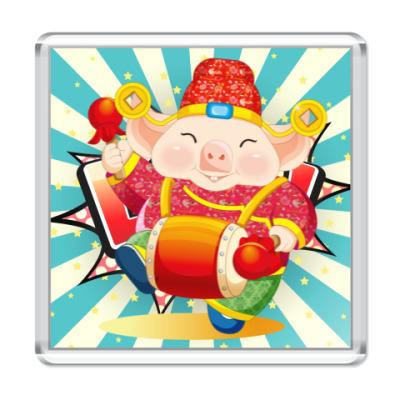 Магнит Новый Год: Год Свиньи