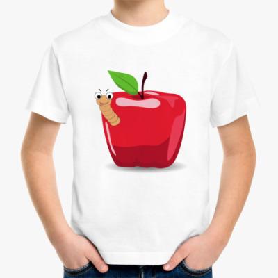Детская футболка Яблоко с червячком