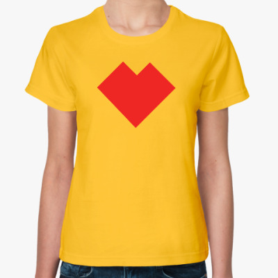 Женская футболка Сердце танграм