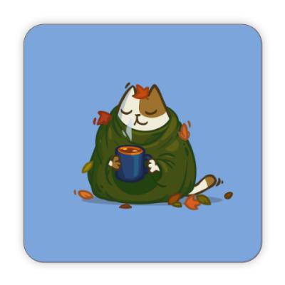 Костер (подставка под кружку) Пятничный Котик №23