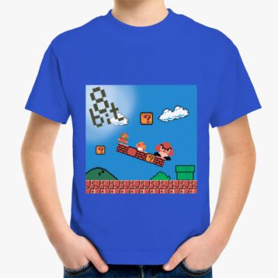 Детская футболка mario 8 bit