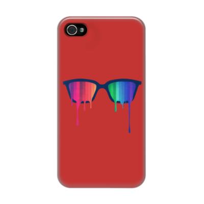 Чехол для iPhone 4/4s Хипстер: очки