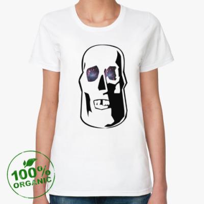 Женская футболка из органик-хлопка Space Skull