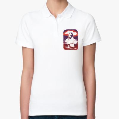 Женская рубашка поло Сексуальная девушка