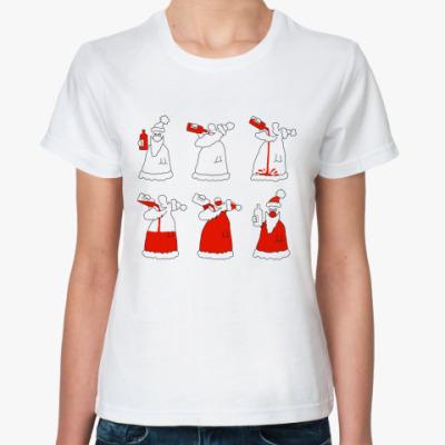 Классическая футболка Как стать дедом морозом