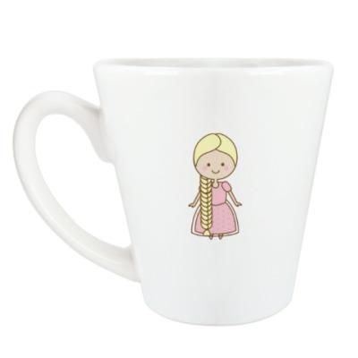 Чашка Латте Принцесса Рапунцель