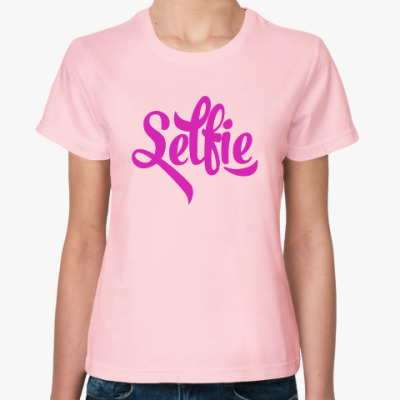 Женская футболка Selfie