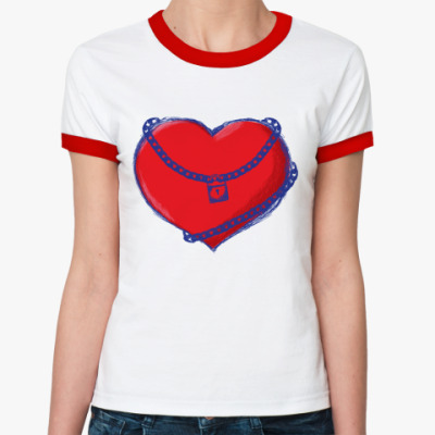 Женская футболка Ringer-T   'Сердце'