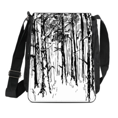 Сумка-планшет зимний лес