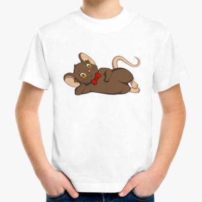 Детская футболка Мышка с бантиком.