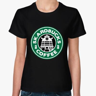 Женская футболка Skaro Coffee DOCTOR WHO Dalek