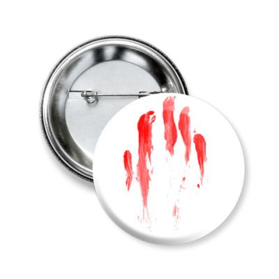 Значок 50мм Кровавый след