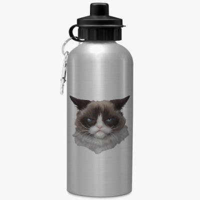 Спортивная бутылка/фляжка Grumpy Cat / Сердитый Кот