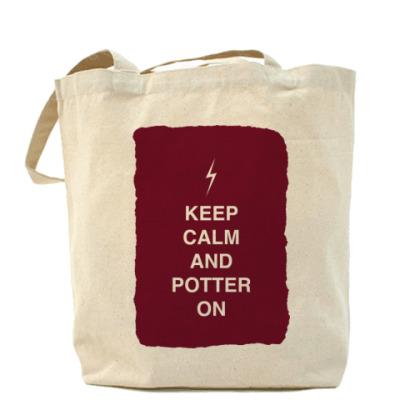 Сумка Keep calm and Potter on