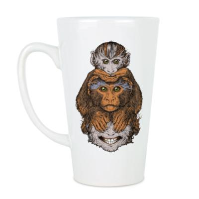 Чашка Латте Три обезьяны символ года