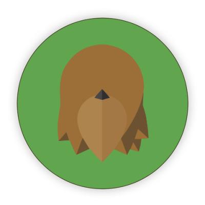 Костер (подставка под кружку) Чубакка (Chewbacca) Минимализм