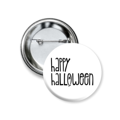 Значок 37мм Happy Halloween!