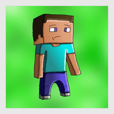 Постер Minecraft Steve