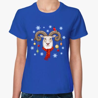 Женская футболка Новый год 2015 барана овцы козы