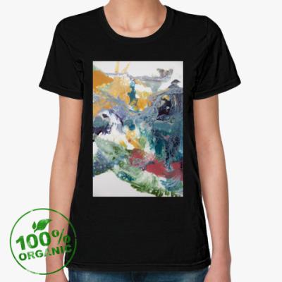 Женская футболка из органик-хлопка ЖИДКИЙ АКРИЛ