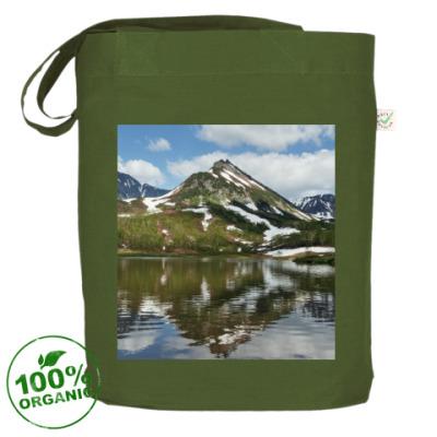 Сумка Полуостров Камчатка, горы, горное озеро, отражение