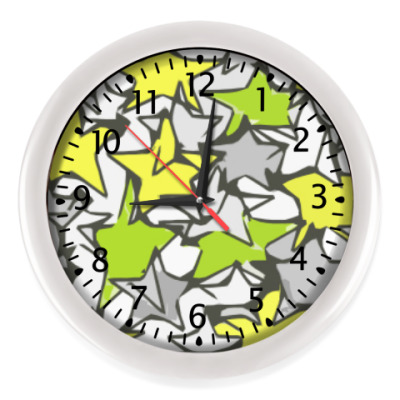 Настенные часы звезды