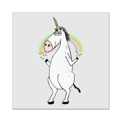 Наклейка (стикер) Единорог