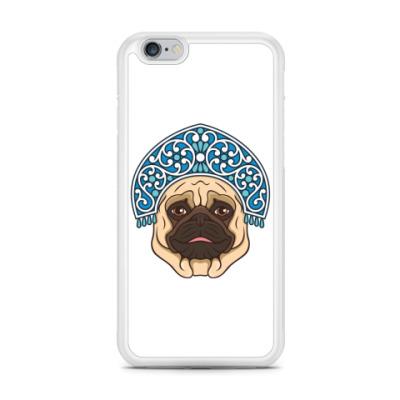 Чехол для iPhone Русский мопс. Russian pug.