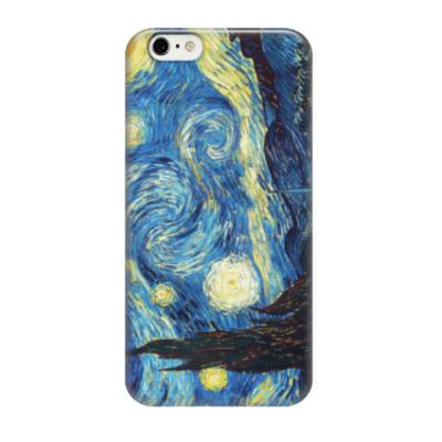 Чехол для iPhone 6/6s Звездная ночь (Ван Гог)