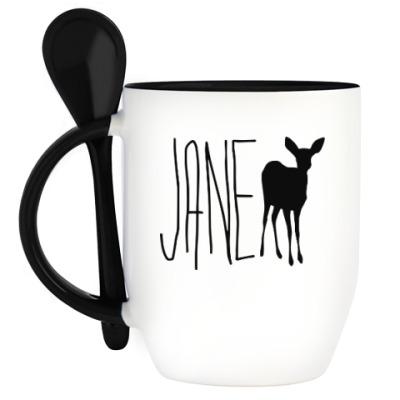 Кружка с ложкой JANE DOE