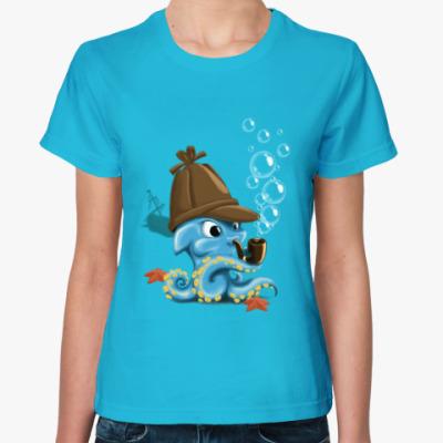 Женская футболка Кальмар-Шерлок