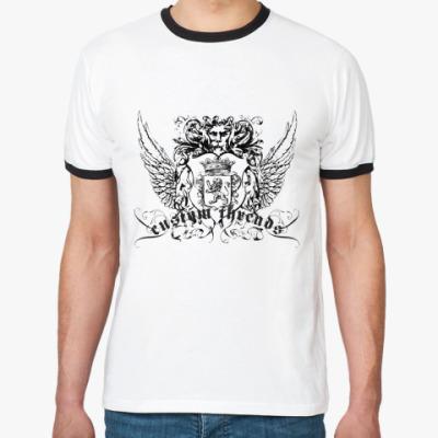 Футболка Ringer-T   (бел/чёрн)