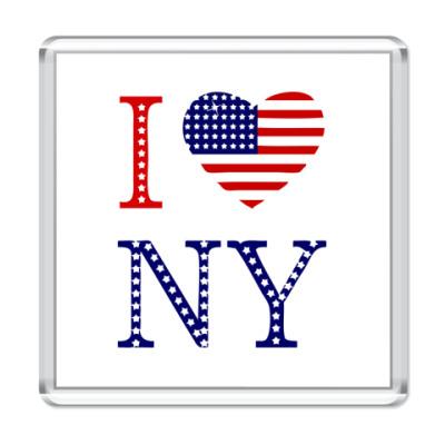 Магнит I Love NY