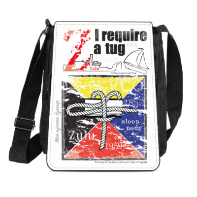 Сумка-планшет Морской флаг «Zulu»