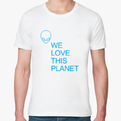 Футболка из органик-хлопка IAA: Мы любим эту планету