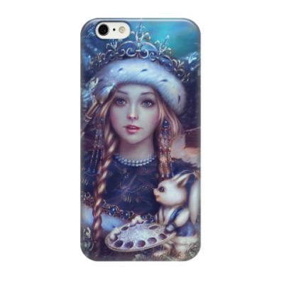 Чехол для iPhone 6/6s Новогодняя Снегурочка с белкой